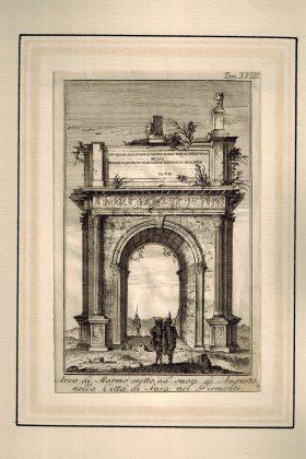 Arco di Marmo eretto in onore di Augusto nella Città di Susa nel Piemonte