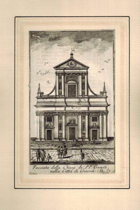 Facciata della Chiesa de' PP. Gesuiti, nella Città di Genova