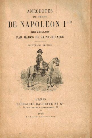 Anecdotes de Napoleon Ier