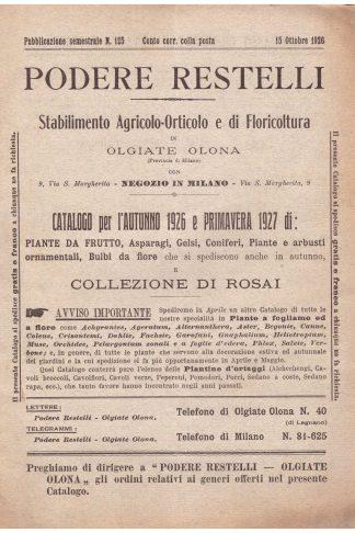 Podere Restelli. Stabilimento Agricolo-Orticolo e Floricultura in Olgiate Olona (MI)
