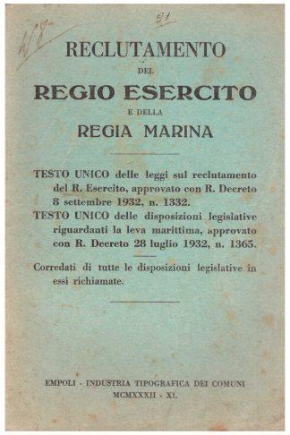Reclutamento del Regio Esercito e della Regia Marina